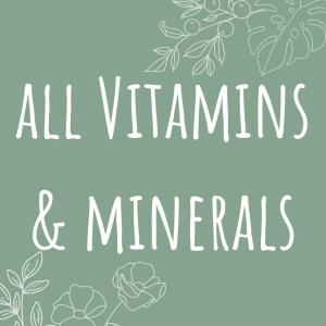 All Vitamins & Minerals