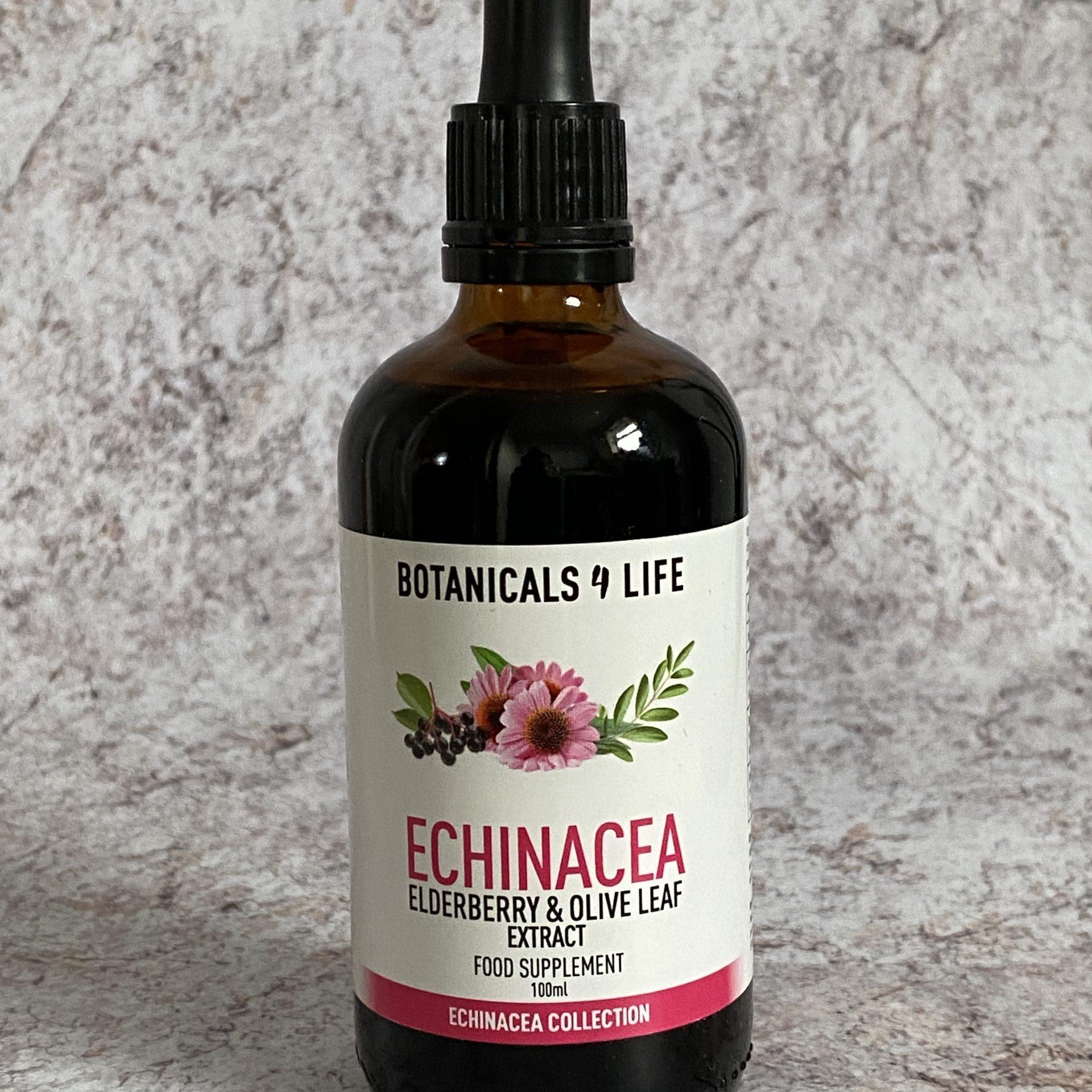 Sale - Botanicals 4 Life ECHINACEA, ELDERBERRY, OLIVE LEAF EXTRACT 100ML